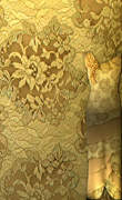 French Lace Fabric – Gold