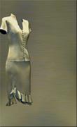 Genoa Satin Fabric – Olive