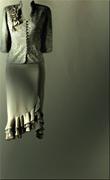 Genoa Satin Fabric – Olive Matt