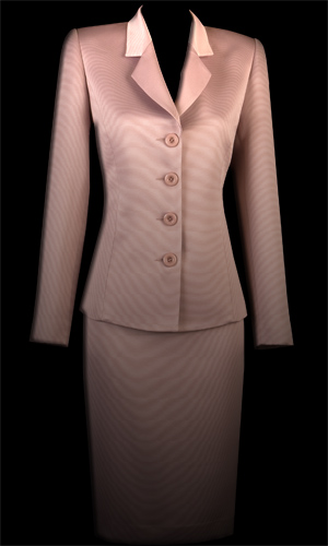 Vicky Mar Braided Satin Classic Tailored Jacket - Pink