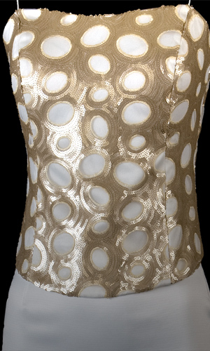 Satin Bustier with Circle Sequins