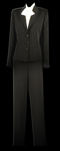 Vicky Mar Pinstripe Jacket And Fully Lined Pants