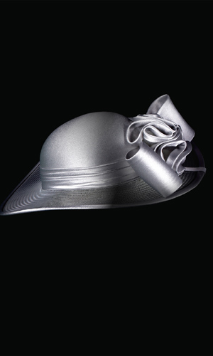 Vicky Mar Hat With Satin Bow - Peal Grey