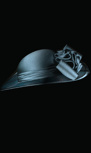 Vicky Mar Hat With Satin Bow - Teal Blue