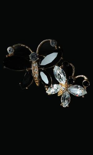 Swarovski Stones Twin Butterfly Brooch