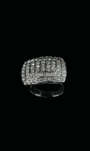 Swarovski Crystals Oblong Diamonte Ring
