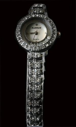 Round Watch With Diamante Bracelet