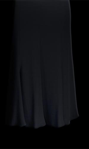 Chiffon Long Skirt - Black