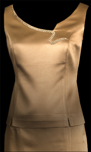 Snake Embroidery Sleeveless Top - Brown