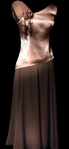 Chiffon Long Skirt - Mocha
