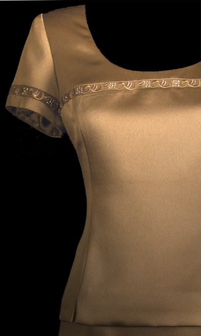 Embroided Genoa Top - Brown