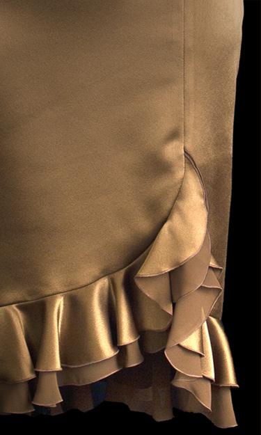 Chiffon Frill Skirt - Brown