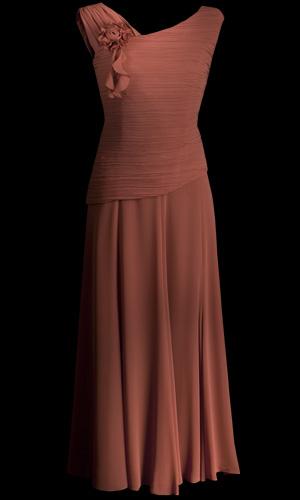 Chiffon Long Skirt - Orange