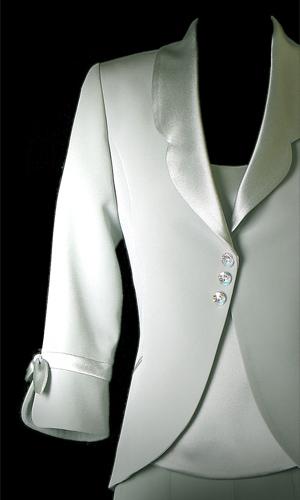 Bow On Sleeve Jacket - Mild Green