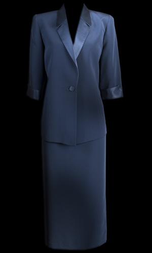 Genoa Matt Skirt - Petrol Blue