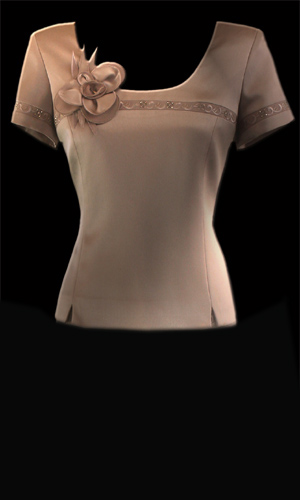 Genoa Embroided Top - Oyster Pink