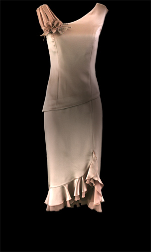 Chiffon Frill Skirt - Oyster Pink