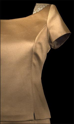 Diamonte On Shoulder Top - Brown