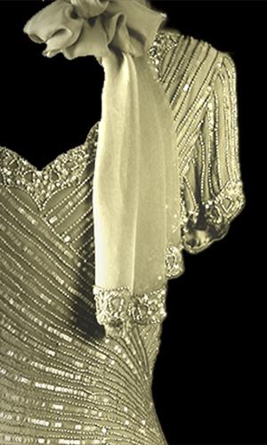 Vicky Mar Pure Silk Beaded Long Scarf