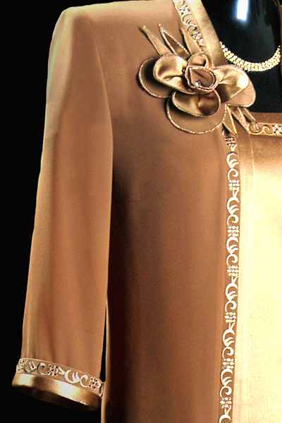 Embroided Genoa Sleeveless Top - Brown