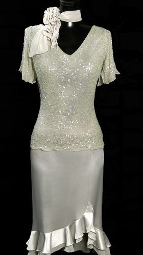 Chiffon Frill Skirt - Cream