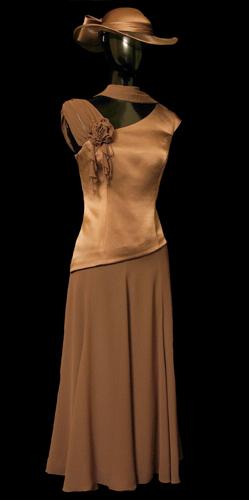 Chiffon Long Skirt - Brown
