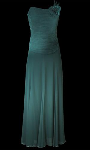 Chiffon Long Skirt - Teal Blue